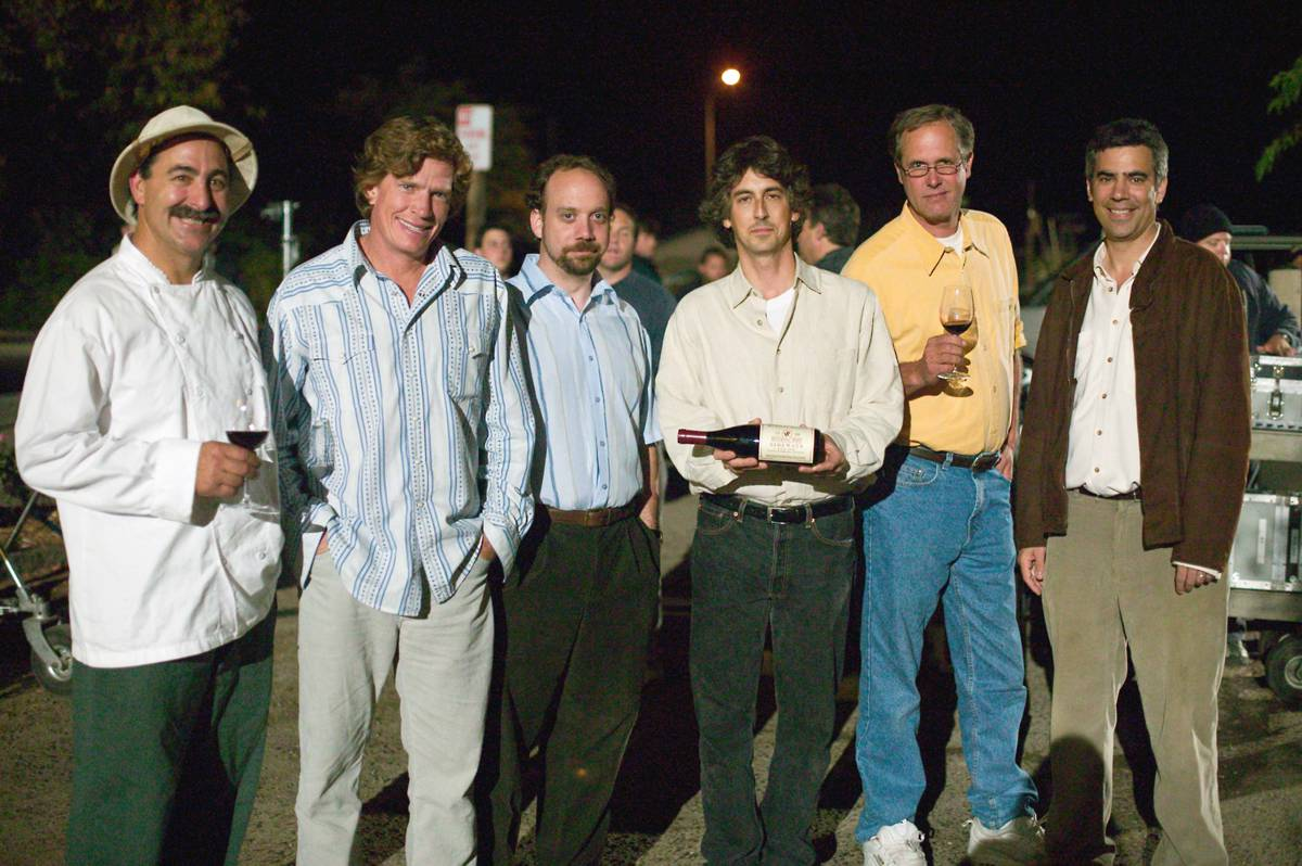 SIDEWAYS: Alexander Payne, Frank Ostini, Gray Hartley, Thomas Hayden Church,Paul Giamatti and others